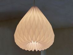 SNOWDROP Origami paper lampshade | werkdepot, Etsy