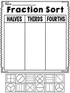 math worksheet : fractions worksheets and first grade on pinterest : 1st Grade Fraction Worksheets