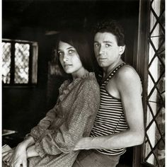 the60sbazaar: Folk singer Mimi Farina photographed with husband...