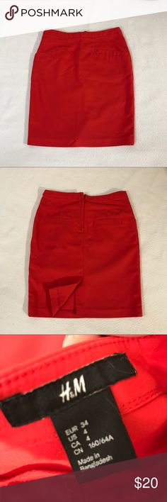 Red skirt from H&M Pencil skirt from H&M. Perfect condition. Size 4 H&M Skirts Pencil