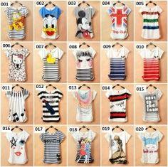 Mujeres Blusa Moda Diseño Disney T Shirt. - R $ 39,89 en eBay