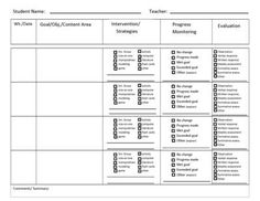 Free MtssRti Progress Monitoring Pages For Tier  Tier  And