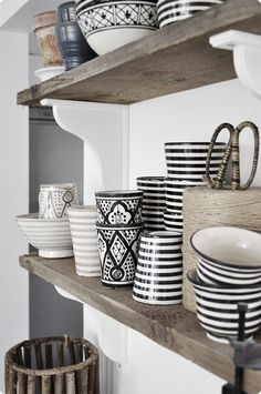 these marvellous moroccan homewares will add a stylish monochromatic touch to your home... #monochrome #homewares