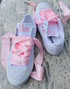 Excited to share this item from my #etsy shop: Embroidered wedding shoes with small Pearls, Ribbon laces, Wedding shoes, Monogrammed Sneakers,Decorated (Low Top) Wedding Sneakers, Wedding Shoes, Groom Shoes, Bride Shoes, Converse Low Tops, Converse Sneakers, Colorful Shoes, Custom Shoes, On Shoes