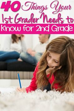 The Important 40 things your 1st grader needs to know before moving to 2nd grade.- Do you have a 1st grader going into 2nd grade? Check out these 40 things they need to know first!