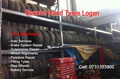 We offer brand new and second hand tyres and wheels for all makes and models of vehicles in Brisbane, Slacks Creek Phone: 0731333900
