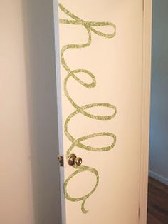 For your dorm room door - or ANY door. Love this easy decorative touch, so unique. #design