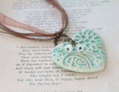 Vintage Lace Style Heart Necklace, £16.00