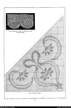 4 : containing designs & charts in the new filet crochet for Australian and New Zealand crochet workers. - Page 21 Filet Crochet, Crochet Lace, Stitch 2, Cross Stitch, Crochet Designs, Crochet Patterns, Crochet Curtains, Different Stitches, Crochet Books