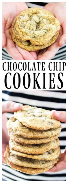 This CLASSIC CHOCOLATE CHIP COOKIE RECIPE is a traditional favorite in every household. Anytime I think of chocolate chip cookies I think of the Friends episode where Monica tries to recreate Phoebe's (Giant Chocolate Muffins) Cookie Recipes From Scratch, Holiday Cookie Recipes, Best Cookie Recipes, Best Dessert Recipes, Easy Desserts, Baking Recipes, Easy Recipes, Classic Chocolate Chip Cookies Recipe, Chocolate Muffins