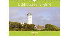Lighthouses in England (Wall Calendar 2021 DIN A4 Landscape) Birthday Calendar, England, Lighthouses, A4, Coast, Landscape, Beautiful, Wall Calendars, Birthday Calender