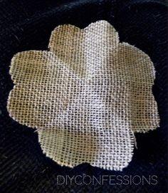Burlap & lace flower tutorial
