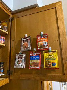 Camper Storage, Pantry Storage, Storage Hacks, Kitchen Storage, Storage Ideas For Campers, Caravan Storage Ideas, Home Storage Ideas, Tiny Pantry, Trailer Storage