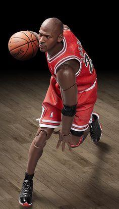 "Michael Jordan (Chicago Bulls) 1/9th Scale 8"" Action Figure Enterbay"
