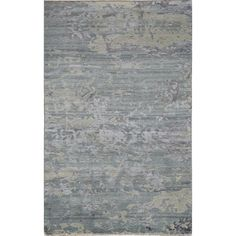 Terrene Hand-Knotted Blue Abstract Rug (5' x 8')