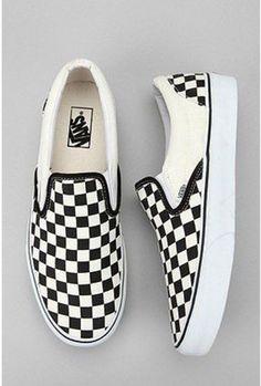 sports shoes 3f54d 18343 Vans Checkerboard Slip-On Sneaker Vans Schwarz Weiß, Schwarze Schuhe,  Laufschuhe, Schöne