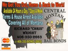 Kalispell bail bonds in Flathead County by Central Montana Bail Bonds agents. No bond is too big or too small. Call for fast bail! House Arrest, Lewis And Clark, Back To Work, Montana, You Got This, Bond, How To Get, Art Images, Lewis N Clark