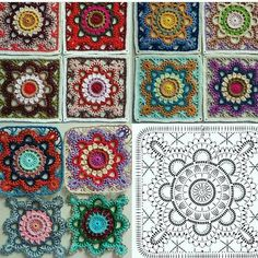Transcendent Crochet a Solid Granny Square Ideas. Inconceivable Crochet a Solid Granny Square Ideas. Crochet Diy, Crochet Motifs, Granny Square Crochet Pattern, Crochet Diagram, Crochet Chart, Crochet Granny, Crochet Flower, Manta Crochet, Crochet Blanket Tutorial