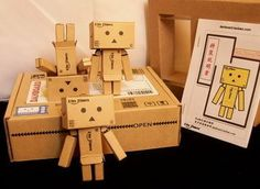 Revoltech Danboard Mini Danbo Amazon Figure Box Set 1+ 5 **Free Ship** by Danboard. $33.99. **Free Shipping to Worldwide, Register Mail with tracking info.. (2)Size: about 8cm per figure. 100% Brand new.It is a great gift for yourself or friends!. (1)Material: Kraft Paper, Strickers, White Card Board. Packing including:  Finished Model x 1,  Unfinished Model x 5,  Glue x 1,  English Manual x 1,  Secret Gift (Figure) x 1