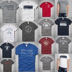 Nwt Abercrombie & Fitch By Hollister Mens Muscle Fit T Shirt Size S M L XL 2XL #AbercrombieFitch #GraphicTee #Everyday