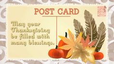 A Free Thanksgiving  Bible Postcard For Everyone