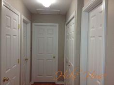 Hallway Painted in Revere Pewter