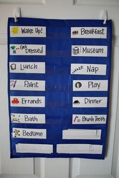 "Toddler ""Things To Do Today"" Chart, can change it every day to fit your changing life, pictures great for young ones"