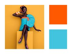 The fashion image shows the use of complimentary colours, blue and orange. Complimentary Colors, Fashion Project, Fashion Images, Image Shows, Disney Characters, Fictional Characters, Colours, Orange, Disney Princess