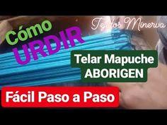 Como URDIR Telar Mapuche Aborigen Paso a Paso [ Tejidos Minerva ] - YouTube Weaving, Youtube, Videos, Garden, Crochet Stitches, Loom Knitting Patterns, Fabric Patterns, Crochet For Baby, Slippers Crochet