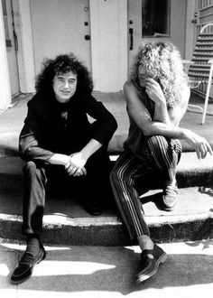 http://custard-pie.com Jimmy Page and Robert Plant