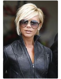 Pixie cut: long in front. Victoria Beckham haircut