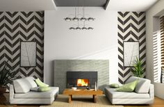 I WANT THIS.  GroopDealz | Chevron Vinyl Wall Art Decal X-LARGE size