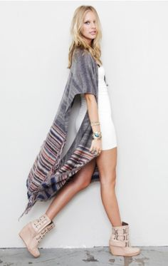 Free People poncho. Perfect for @Keely Bowen too. Someone get it and lets shaaare!