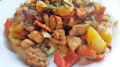Vaříme bez tuku: Směs brambory, kuřecí maso, zelenina