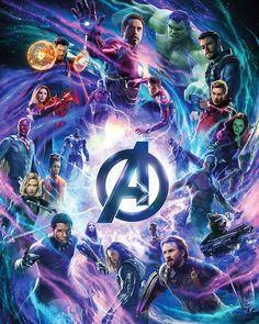 "Avengers Infinity War 2018 Poster 40x32"" 30x24"" 20x16 Movie Film Print Silk"