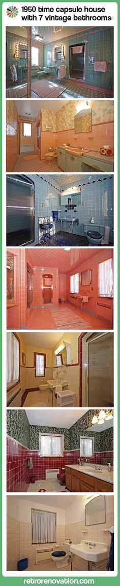 1950 Time Capsule House with 7 vintage bathrooms — Grosse Point Park, Mich. #retrohomedecor