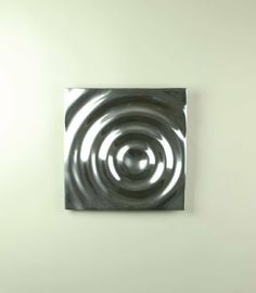 "Buffed Aluminum Square Ripple Design Wall Tile by Modern Day Accents. $51.25. Square Ripple Design Wall Tile. Buffed Aluminum. 12""Sq."