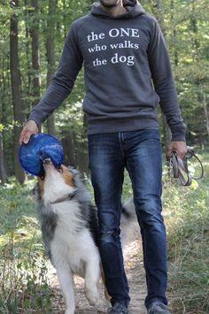 Walk the dog ; Australian Shepherd, Dog Walking, Hoodies, Sweatshirts, Graphic Sweatshirt, Pets, Blessing, Seasons Of The Year, Aussie Shepherd