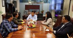 El titular de la SSP, Juan Bernardo Corona, se reunió con líderes transportistas y la diputada del PRI, Xóchitl Gabriela Ruiz, para analizar el tema – Morelia, Michoacán, 18 de ...