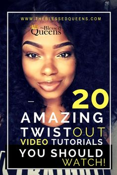 20 Amazing twist out on dry hair Tutorials. Here are 20 Amazing twist out on dry… 20 Amazing twist out on dry hair Tutorials. Here are 20 Amazing twist out on dry hair Tutorials every natural must watch! Twist out… Continue Reading → Natural Hair Twist Out, Natural Hair Tips, Natural Hair Journey, Natural Hair Styles, Natural Curls, Big Curly Hair, Curly Hair Styles, Thick Hair, Braid Out