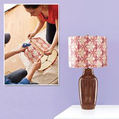 Revamping an old lamp is as simple as recovering the shade! Find out how here.