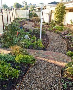 Stone and gravel pathways