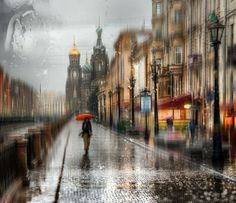 St. Petersburg, Russia-based photographer Eduard Gordeev captures incredibly surreal images of rainy cityscapes that at first glance appear like impressionist oil paintings.    	Eduard Gordeev   	The moody images are often of St. Petersburg and its best-known landmarks viewed through windowpanes w...