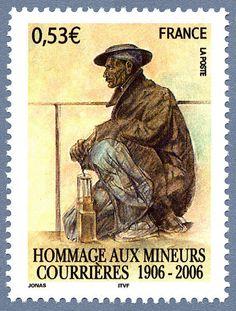 Francia 2006 - Conmemoración del accidente del 10/3/1906 en la Compagnie des mines de Courrières (Pas de Calais), que causó al menos 1099 muertos.