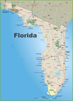 Highway Map Of Florida.208 Best Florida Road Trip Images Florida Holiday Destinations