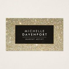 Makeup artist business card eyes eyelashes all white classic gold glitter makeup artist business card wajeb Gallery