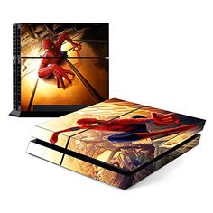 Decorative Video Game Skin Decal Cover Sticker for Sony PlayStation 4 Console PS4  Spiderman >>> Want to know more, click on the image.(It is Amazon affiliate link) #red