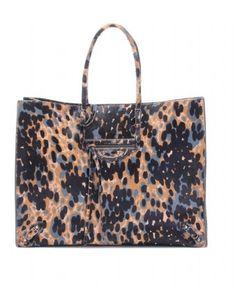 mytheresa.com - Balenciaga - PAPIER A4 ANIMAL PRINT HAIRCALF TOTE - Luxury Fashion for Women / Designer clothing, shoes, bags - StyleSays