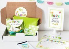 Einschulungsbox   Geschenkbox bunte Buchstaben von nähfein auf DaWanda.com