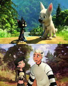 Charming Illustrations Reimagine Beloved Disney Animals As Human Beings